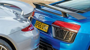 Audi R8 vs Porsche 911 Turbo S - rear