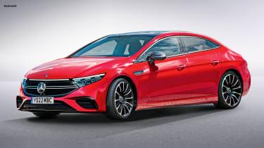 Mercedes EQE - render front