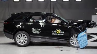 Range Rover Velar Euro NCAP front impact action