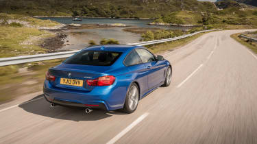 BMW 4 Series 420d M Sport rear action