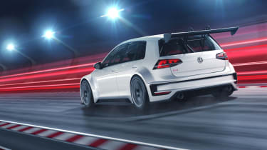 Volkswagen Golf GTI TCR rear tracking