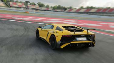 Lamborghini Aventador SV 2015 - rear static track