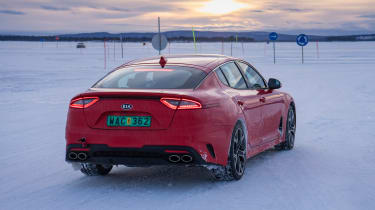 Kia Stinger GT prototype - rear sunset