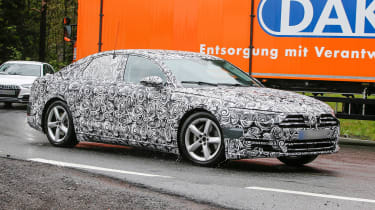 New Audi A8 spies side front