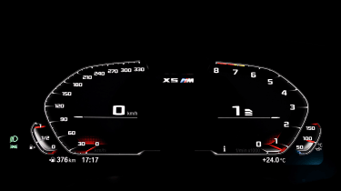 BMW X5 Competition - dials