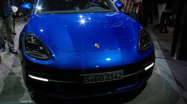 Porsche Panamera - studio front blue