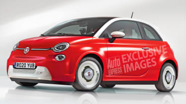Electric Fiat 500 exclusive images front