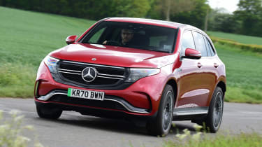 Mercedes EQC long termer - final report front cornering