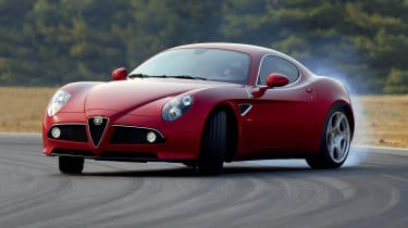 The beautiful arching lines of the Alfa Romeo 8C Competizione hark back to the brand's golden age and made it the antithesis of contemporary supercars, with their aggressively aerodynamic bodies, when it launched in 2007.