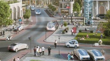 Mercedes Bosch tie-up futurism render