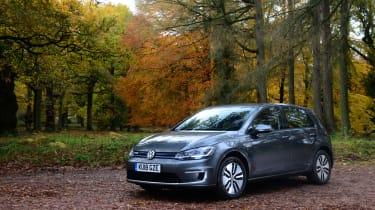 Britain's best driving roads VW e-Golf static