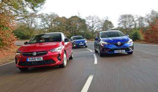 Vauxhall Corsa Renault Clio VW Polo - group