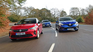 Vauxhall Corsa Renault Clio VW Polo - group