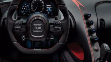 Bugatti Chiron-Sport steering wheel