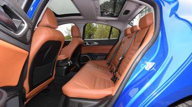 alfa romeo giulia rear seats legroom