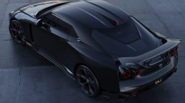 Nissan GT-R50 by Italdesign - black rear 3/4 aerial static