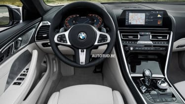 bmw 8 series convertible leaked interior