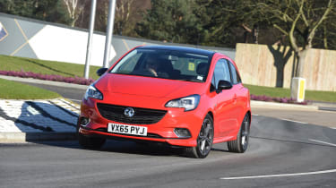 Vauxhall Corsa Red Edition - front cornering