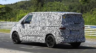 New 2021 Volkswagen Transporter T7 van spied