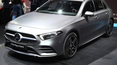 Mercedes A250e - front 3/4 static Frankfurt