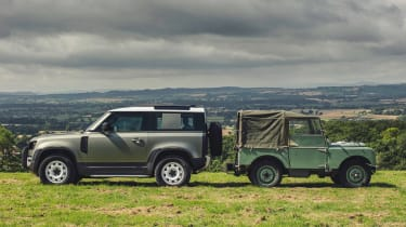 2019 Land Rover Defender and Land Rover Series I – side