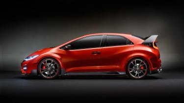 New Honda Civic Type R concept profile