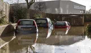 UK Floods: cars flooded