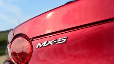 Mazda MX-5 long termer - first report MX-5 badge