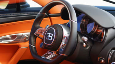Bugatti Chiron - steering wheel