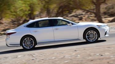 Lexus LS 500h 2018 review - side profile