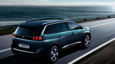 New Peugeot 5008 2016 - blue rear tracking