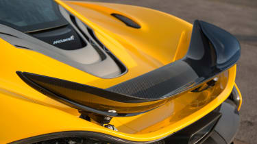 McLaren's 3.8-litre engine now produces 727bhp with the electric motors adding an addtional 176bhp.