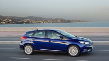 New Ford Focus 2014 side blue