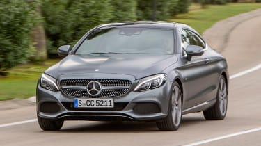 Mercedes C300 Coupe - front driving