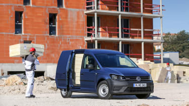 Volkswagen Caddy side door open