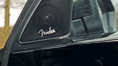 The optional Fender sound system adds extra speakers and mood lighting.
