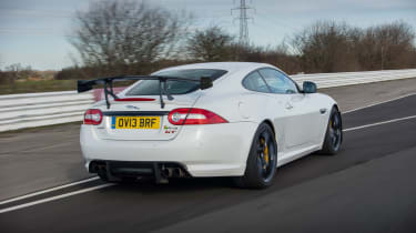 Jaguar XKR-S GT coupe rear tracking