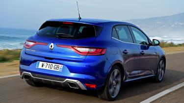 New Renault Megane 2016 hatchback GT rear tracking