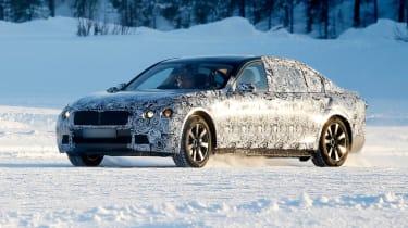 New BMW 7 Series front cornering
