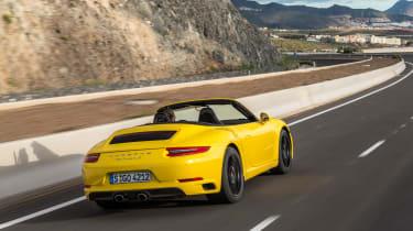 Porsche 911 Carrera S Cabriolet rear tracking 2