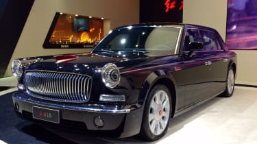 The Hongqi L5 is, in China's eyes, the very finest car the country can produce. Mixing 1960s styling – there's a bit of Ford Thunderbird and Austin Cambridge in its looks we think – with supposed modern day comfort, the L5 clearly look