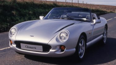 TVR silver front