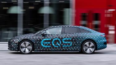 Mercedes EQS prototype - side