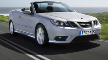 Saab 9-3 convertible front tracking