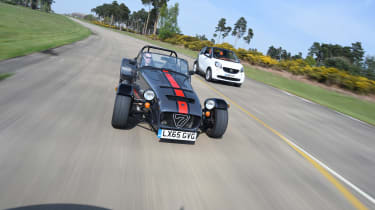 Convertible megatest - Caterham and Smart