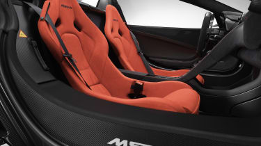 McLaren MSO R Spider seats
