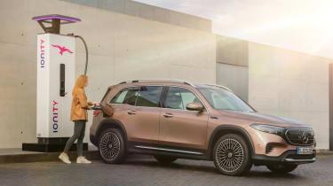 Mercedes EQB - charging