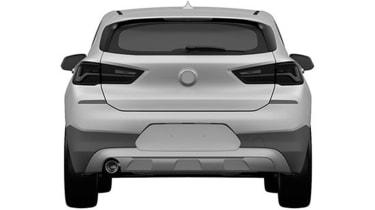 BMW X2 patent leak rear