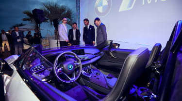 BMW i8 Roadster Formula E safety car - interior