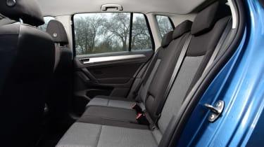 VW Golf SV BlueMotion rear seats